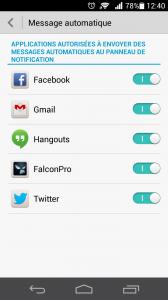Ascend P6 - Gestion des notifications