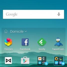 L'écran d'accueil du HTC ONE M9